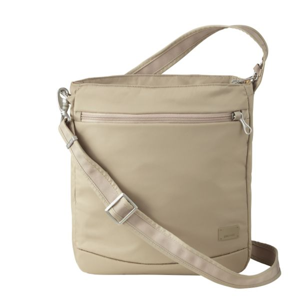 Pacsafe Citysafe CS175 Anti-Theft Crossbody Travel Bag Almond