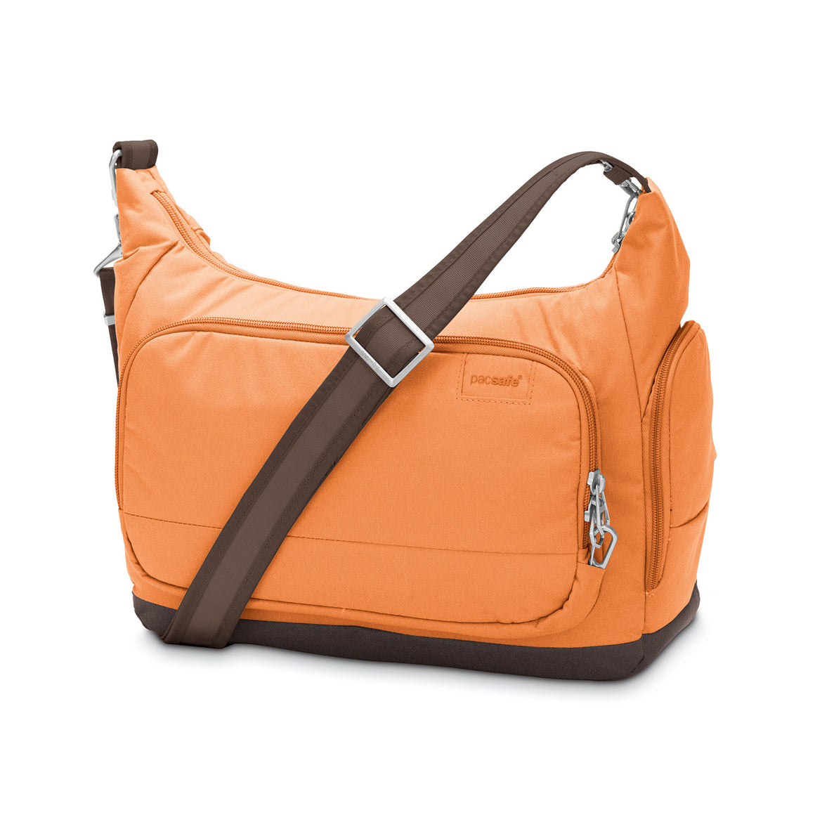 Pacsafe Citysafe LS200 Anti-Theft Shoulder Bag with Tablet Pocket Apricot