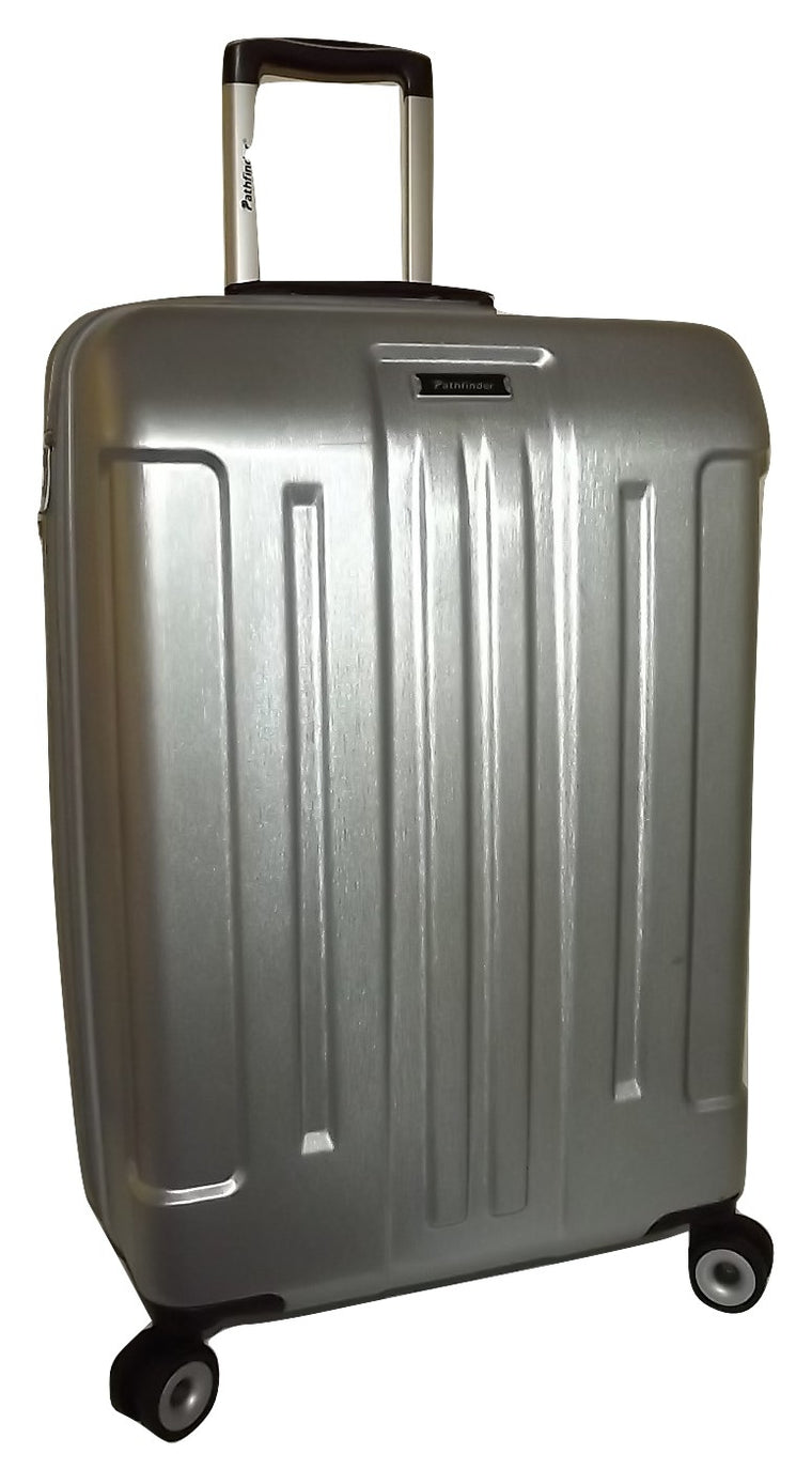 "Pathfinder Explorer 25"" 4 Wheel Spinner Luggage Silver"