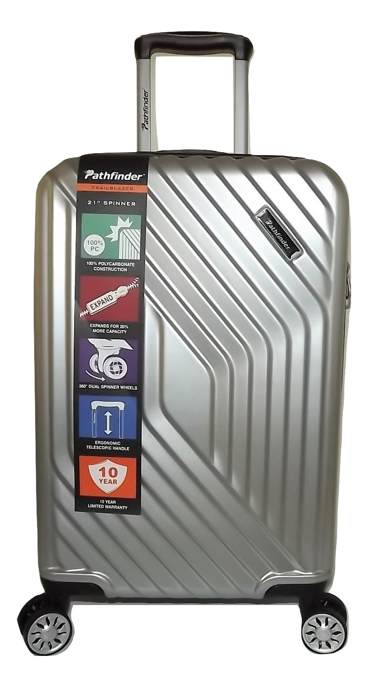 "Pathfinder Trailblazer 21"" Carry-on 4 Wheel Spinner Luggage"
