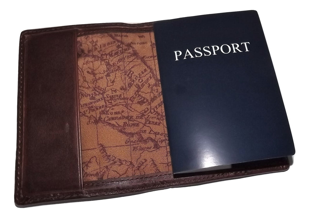 Patricia Nash Leather Compass Embossed Bifold Passport Case