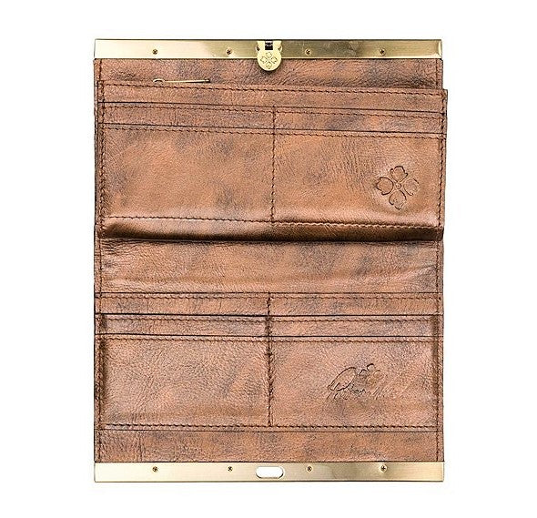 Patricia Nash Cauchy Wallet Antique Gold
