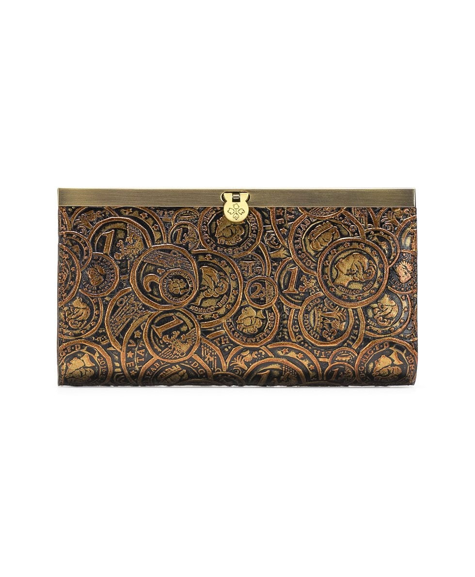 Patricia Nash Coin Tooled Cauchy Wallet Bronze