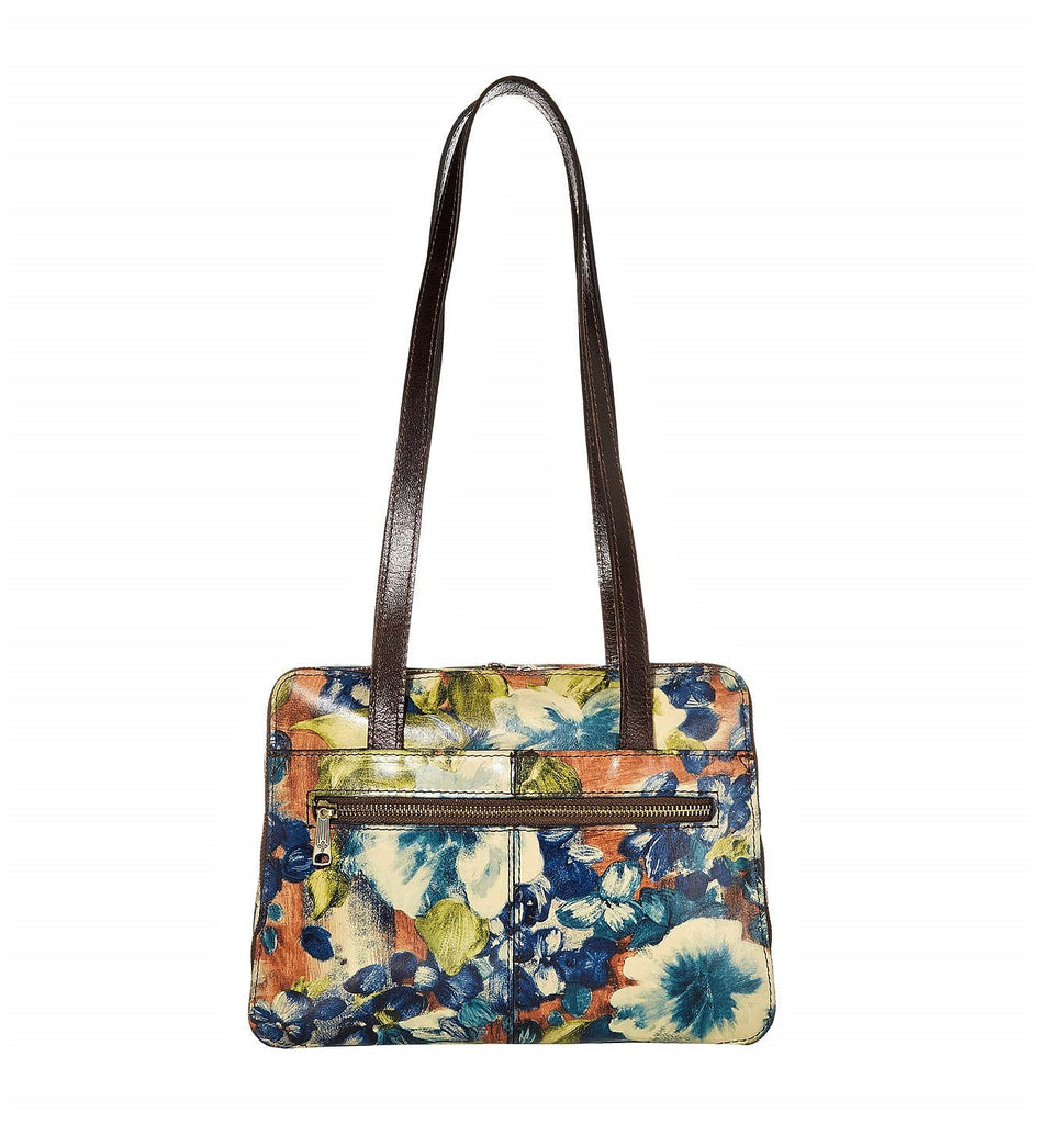 Patricia Nash Dauphine Satchel  Bag Blue Clay Floral
