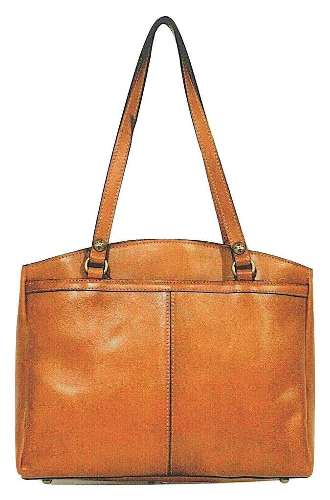 Patricia Nash Poppy Tote Burnished Tooled Gold