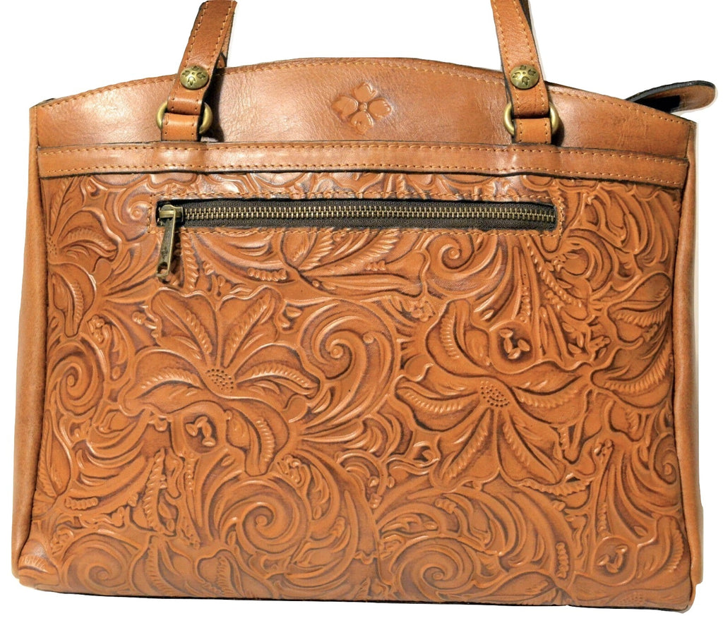 Patricia Nash Poppy Tote Burnsihed Tooled Gold