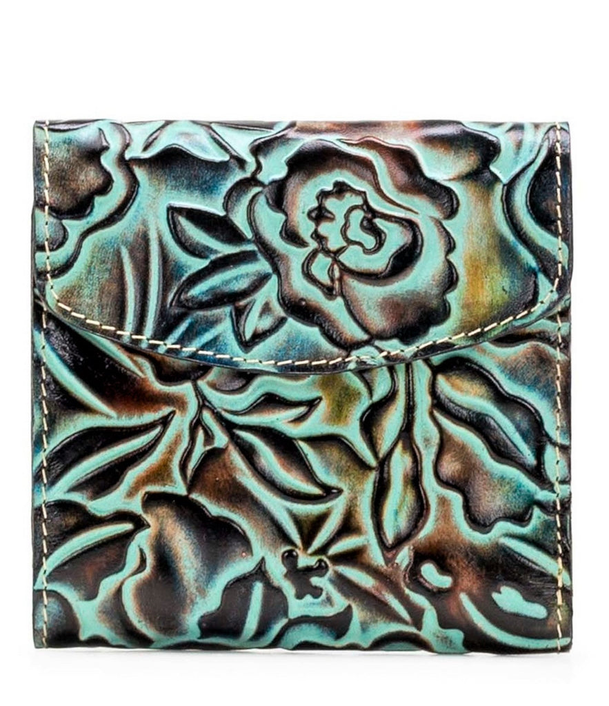 Patricia Nash Tooled Rose Reiti Wallet Turquoise