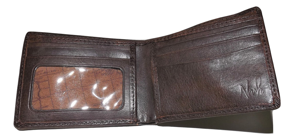 Patricia Nash Tuscan Double Billfold Wallet Chocolate