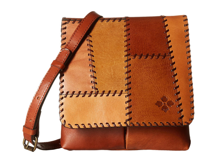 Patricia Nash Granada Crossbody Patchwork Tan