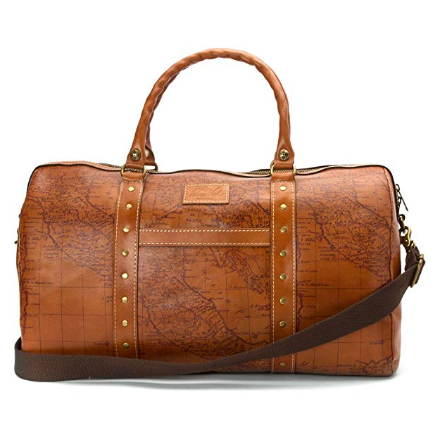 Patricia Nash Vintage Map Milano Duffel Bag