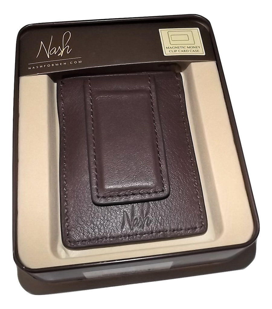 Patricia Nash Leather Magnetic Money Clip Card Case Wallet