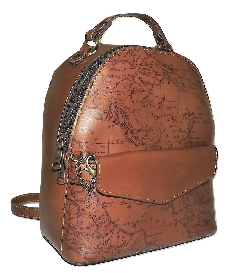 Patricia Nash Montioni Convertible Backpack Rust