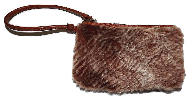 Patricia Nash Women's Italian Leather Piedmont Sherpa Wristlet Wallet
