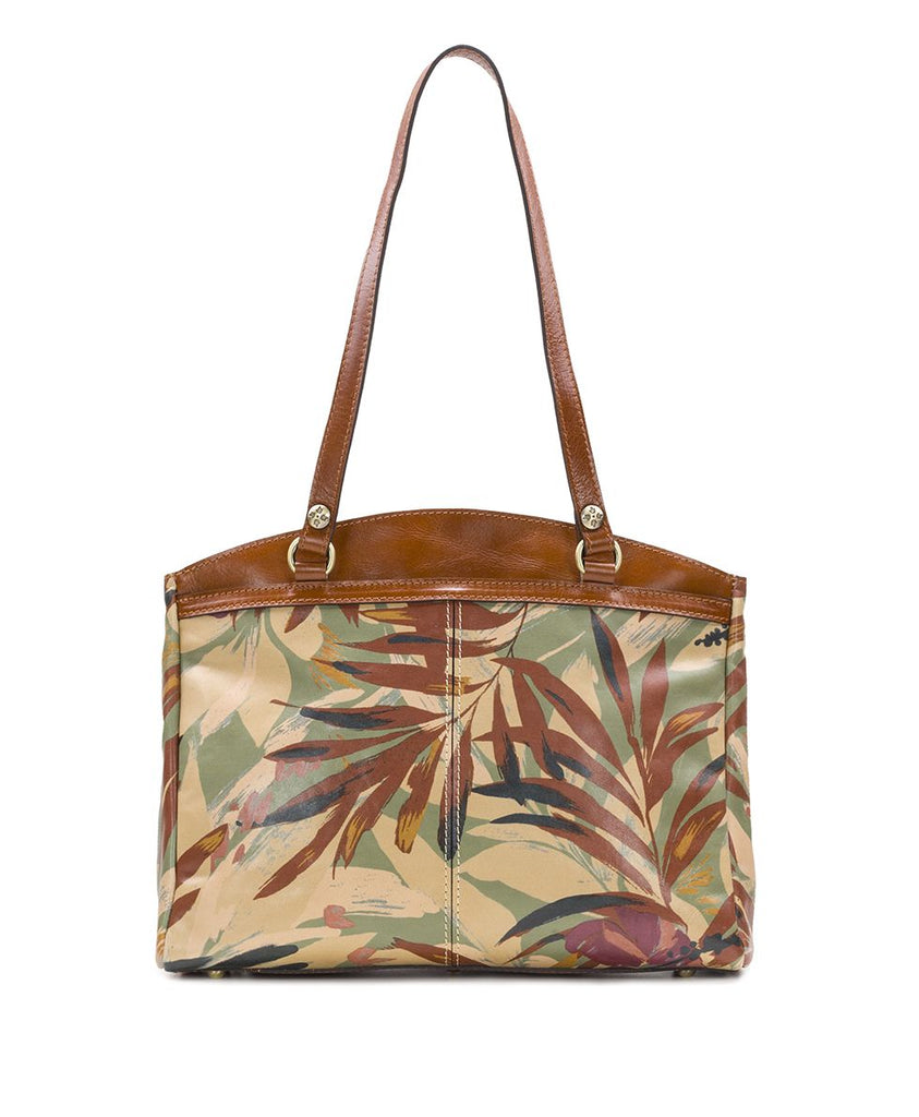 Patricia Nash Poppy Tote Bag Palm Leaves