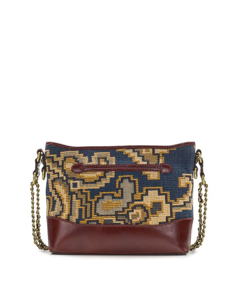 Patricia Nash Salvina Peruvian Tapestry Crossbody Bag Blue