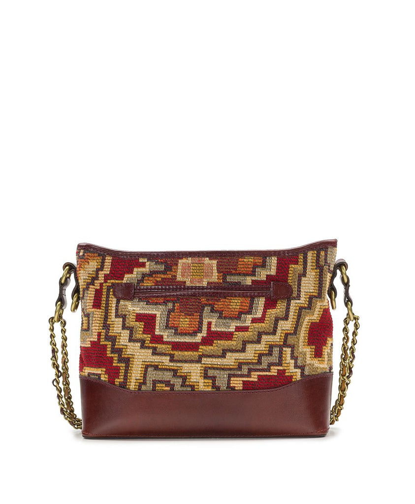 Patricia Nash Salvina Peruvian Tapestry Crossbody Bag Red