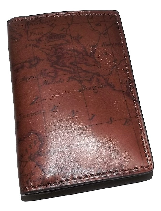 Patricia Nash Vintage Map Card Case Wallet Rust