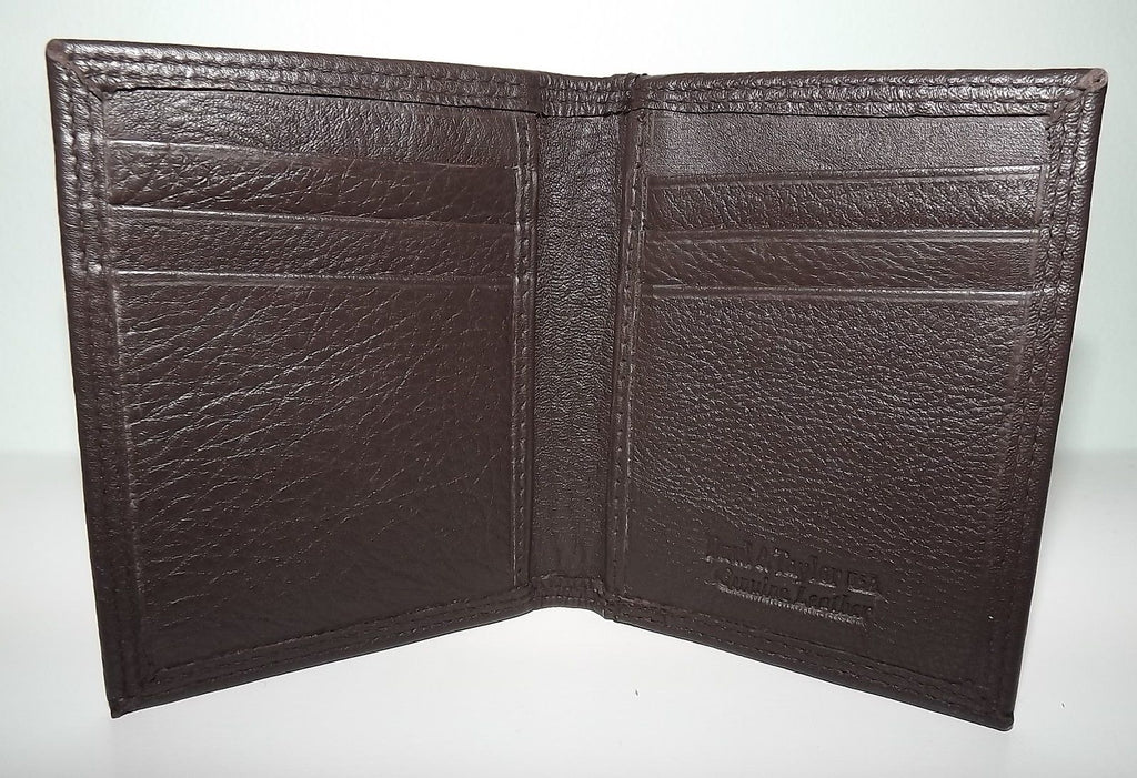 Paul & Taylor Men's Leather Bifold Front Pocket Money Clip ID Wallet