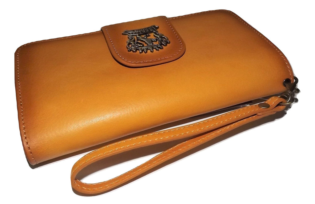 Pratesi Wristlet Clutch Wallet Tuscan Yellow