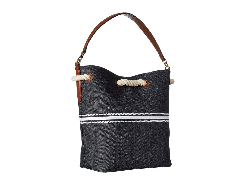 Ralph Lauren Dryden Anchor Tote Denim White