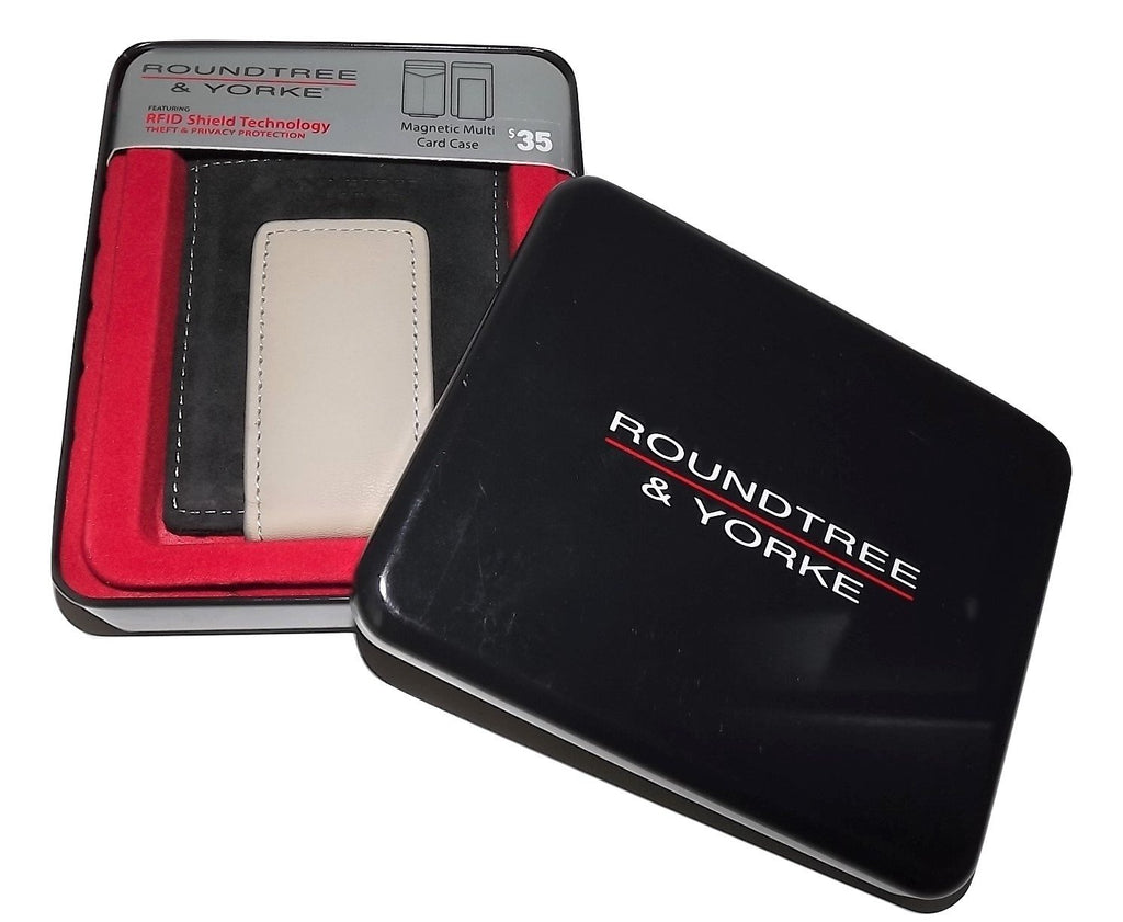 Roundtree & Yorke Magnetic Card Case Wallet Black