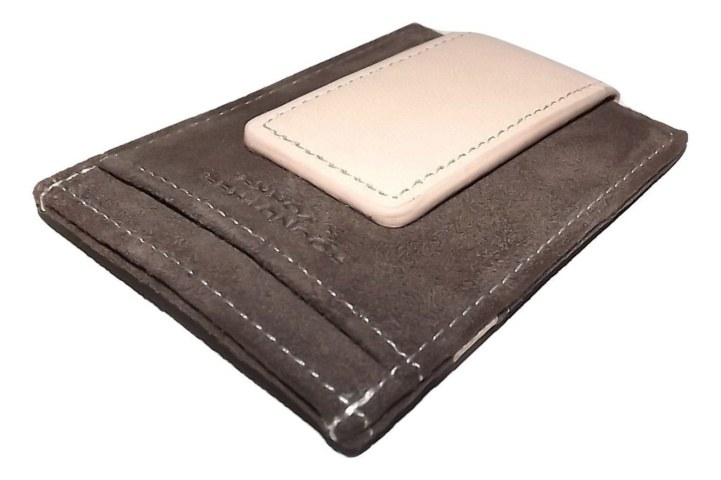 Roundtree & Yorke Magnetic Card Case Wallet Brown