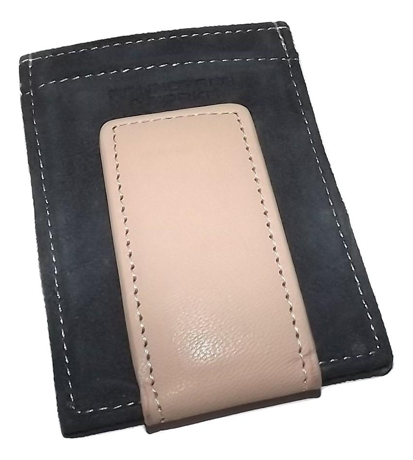 Roundtree & Yorke Magnetic Card Case Wallet Navy