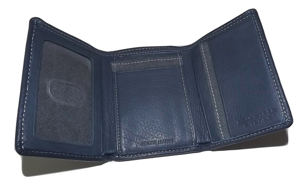 Roundtree & Yorke RFID Trifold Wallet Blue