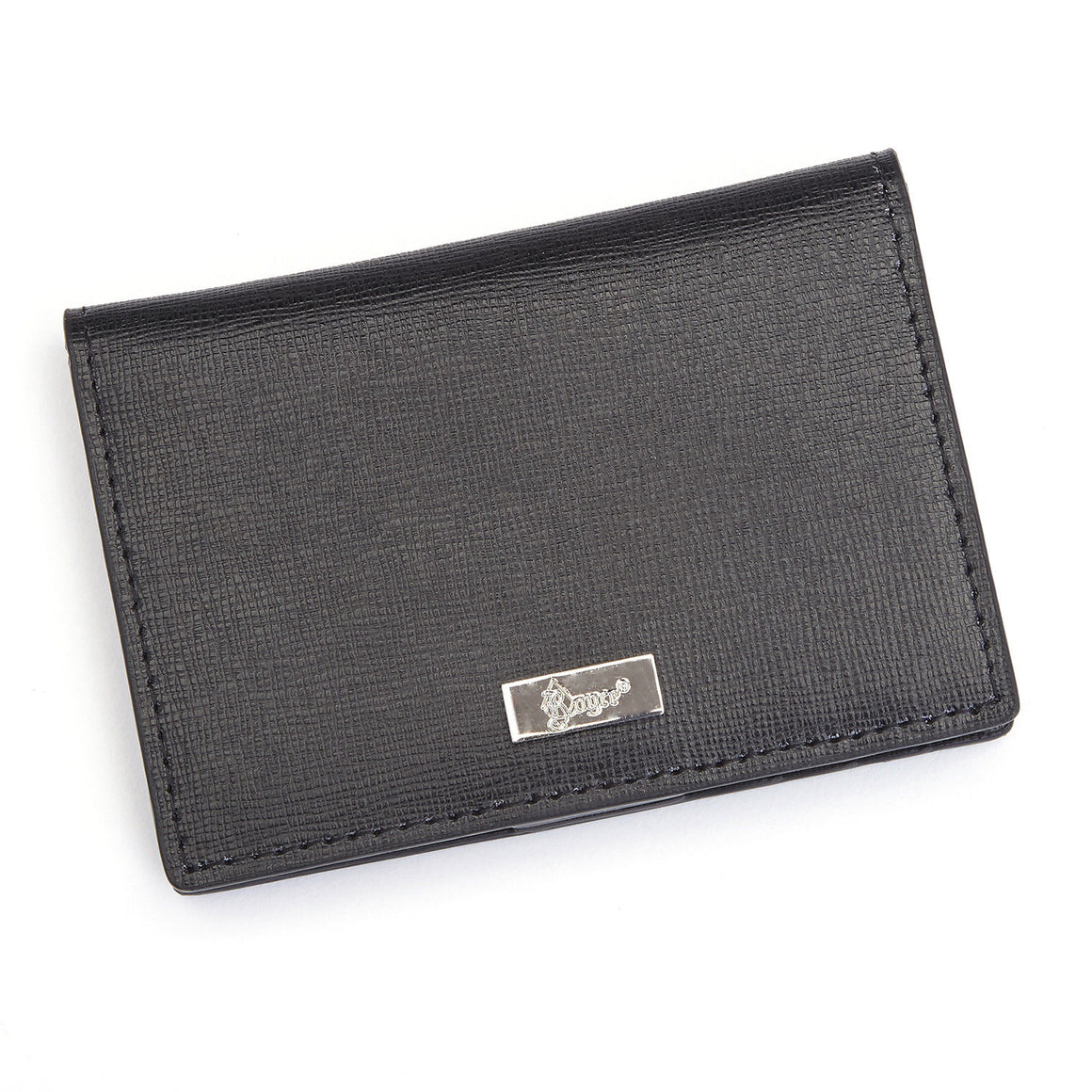 Royce Leather RFID Front Pocket ID Card Case Wallet Black