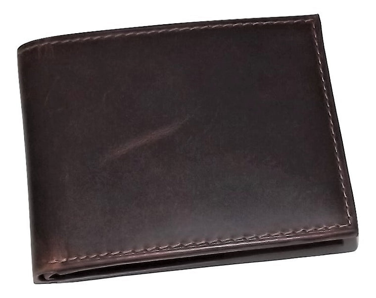 Rugged Gaucho Bifold 5 Pocket ID Wallet Walnut