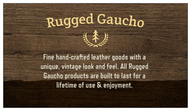 Rugged Gaucho Men's Vintage Leather Trifold ID Wallet Walnut