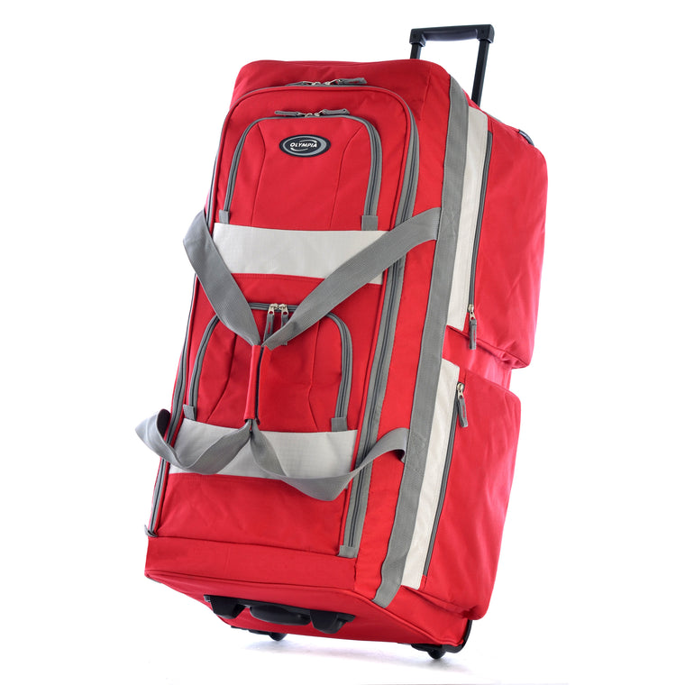 "Olympia Excursion 29"" Wheeled Duffel Red"