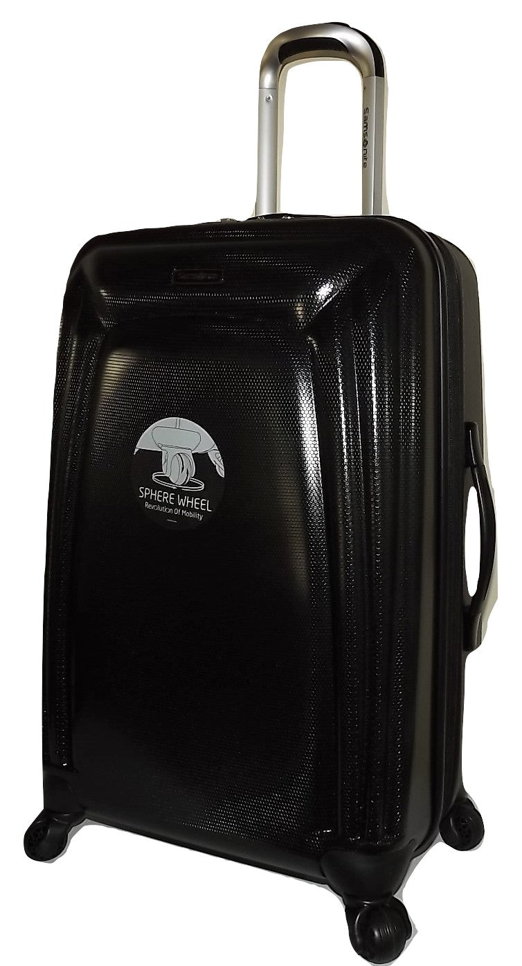 "Samsonite Light Sphere HS 24"" 4 Wheel Spinner Luggage Black"