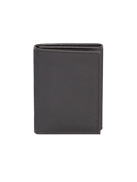 Scully Nappa Leather Trifold Wallet Black