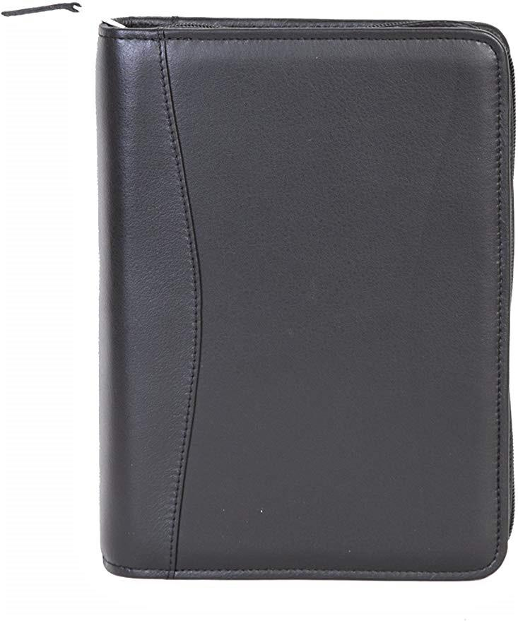 Scully Leather 7 Ring Agenda Planner Black