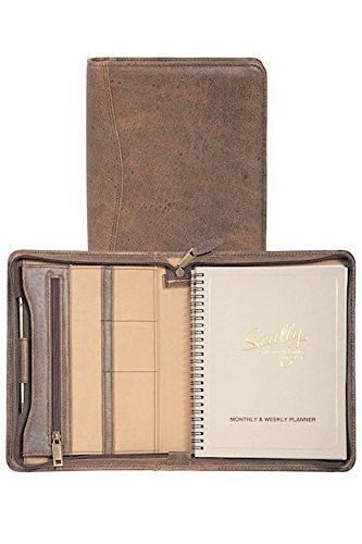 Scully Aero Squadron Leather Agenda