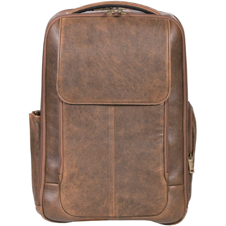 Scully Aero Squadron Aviator Leather Laptop Backpack