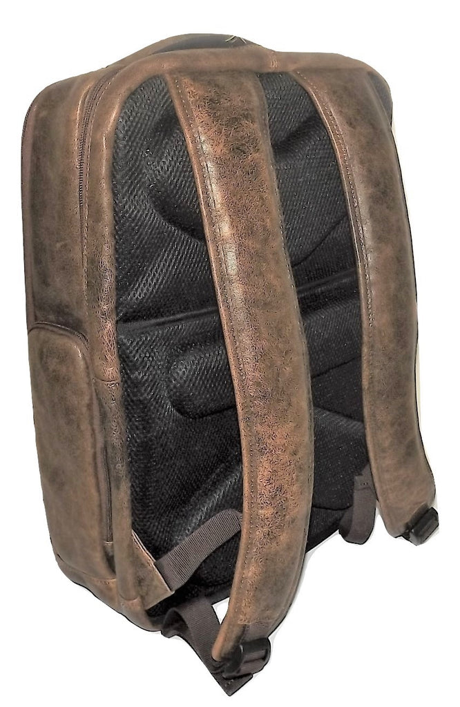 Scully Aero Squadron Aviator Leather Laptop Business Backpack Walnut