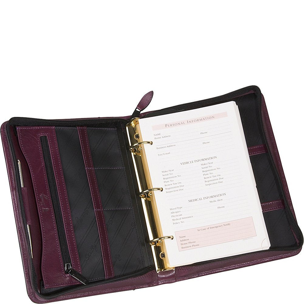 Scully Italian Leather 3 Ring Weekly/Monthly Agenda