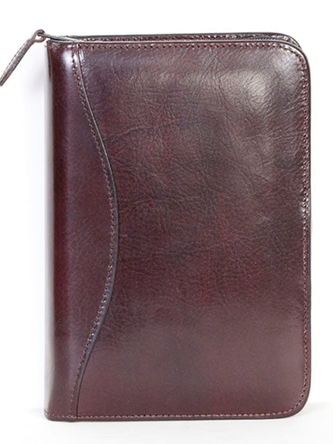 Scully Italian Leather 3 Ring Weekly/Monthly Agenda Burgundy