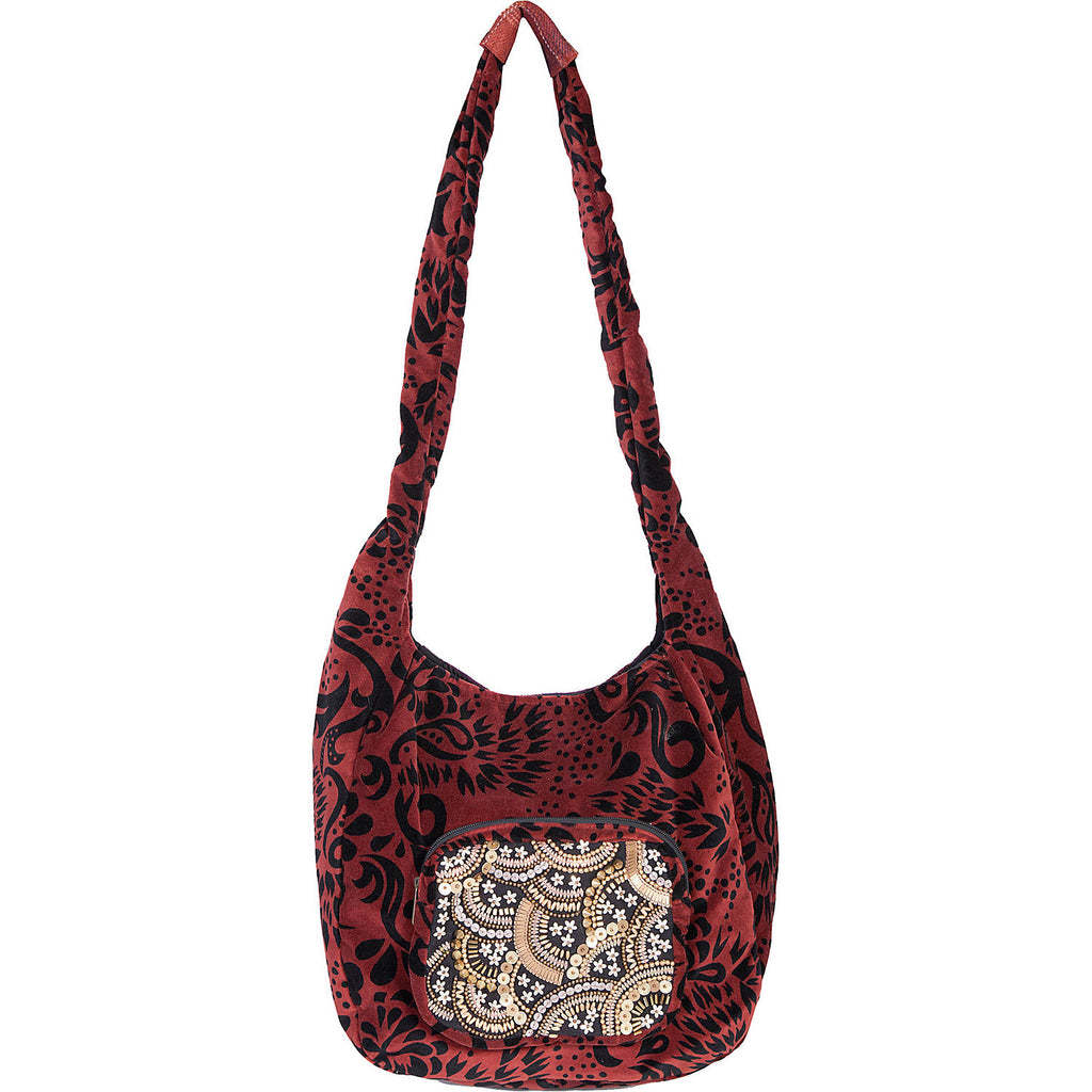 Scully Cantina Velvet Beaded Large Tote Shoulder Bag