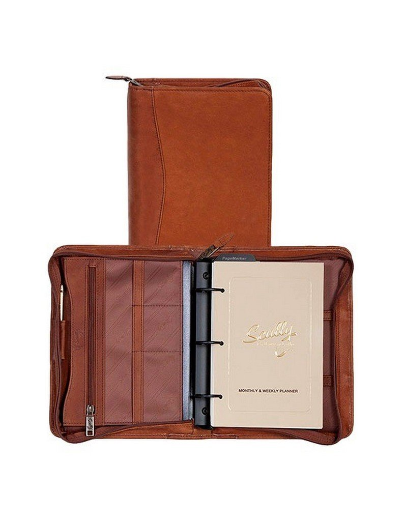 Scully Canyon Leather Weekly/Monthly Planner Agenda Brown
