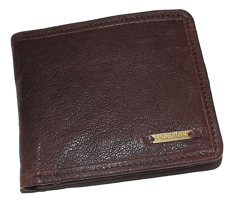 Scully Washed Leather Bifold Center-Flip Wallet Dark Brown
