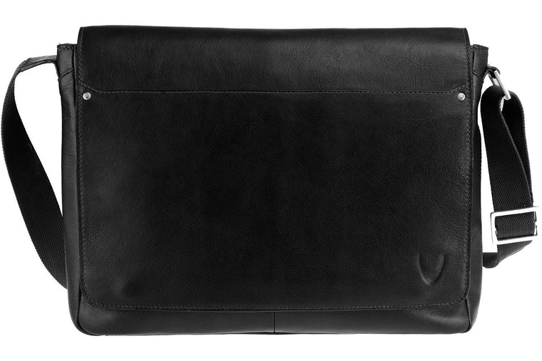 Scully Hidesign Corporate Series Laptop Messenger Bag Black