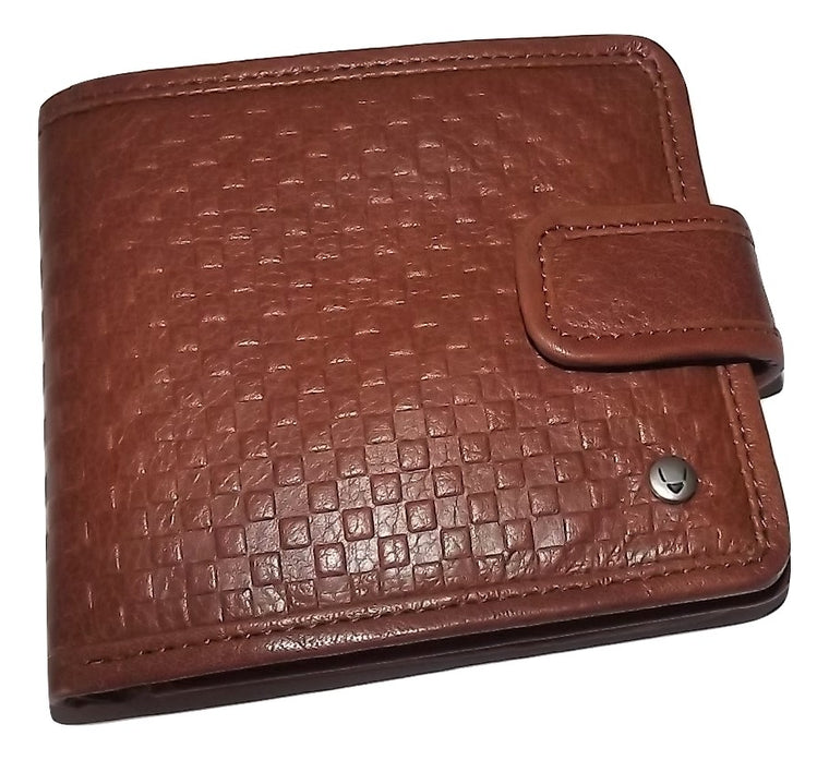 Scully Hidesign Leather Bifold Center-Flip ID Wallet Brown