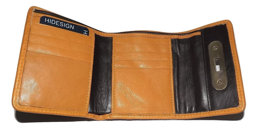 Scully Hidesign Women's Trifold Wallet Yellow/Chocolate