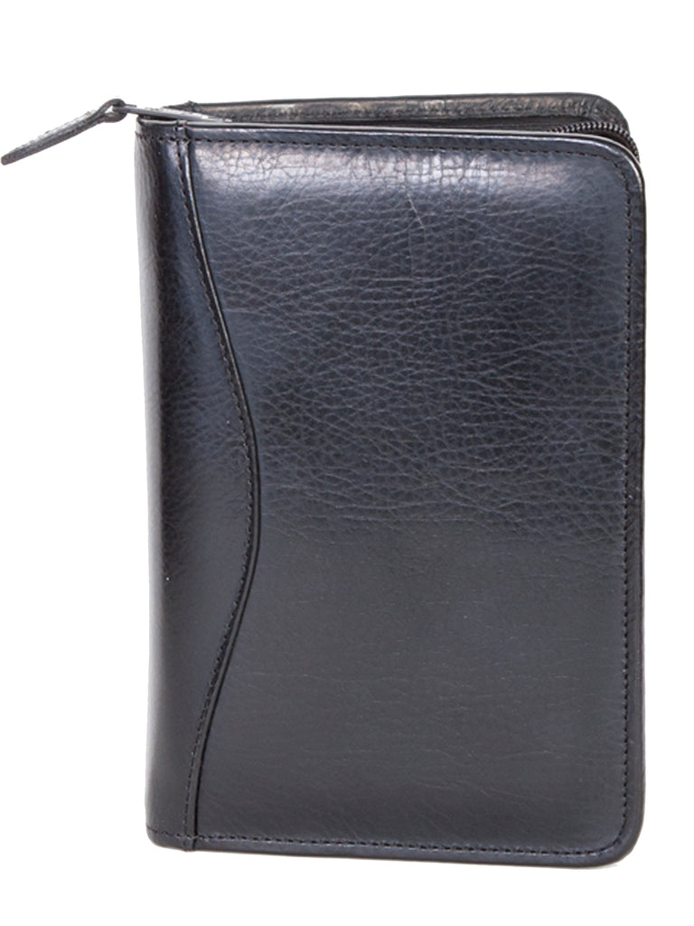 Scully Leather Phone Address Book Black