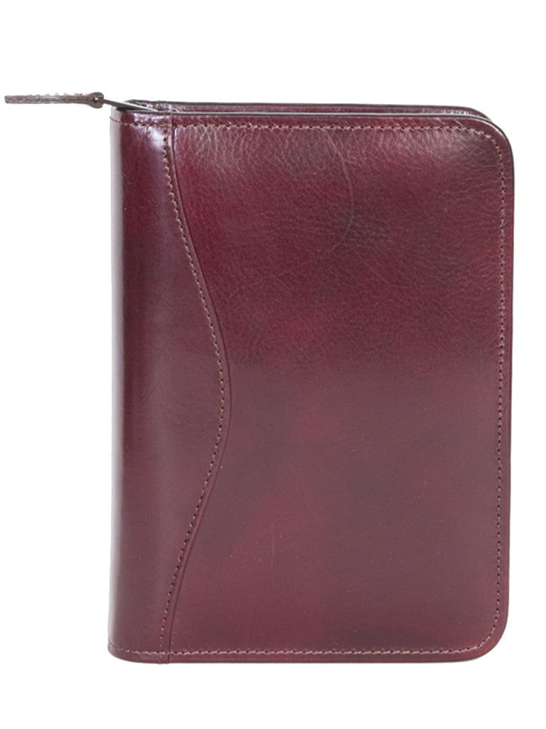 Scully Leather Phone Address Book Burgundy