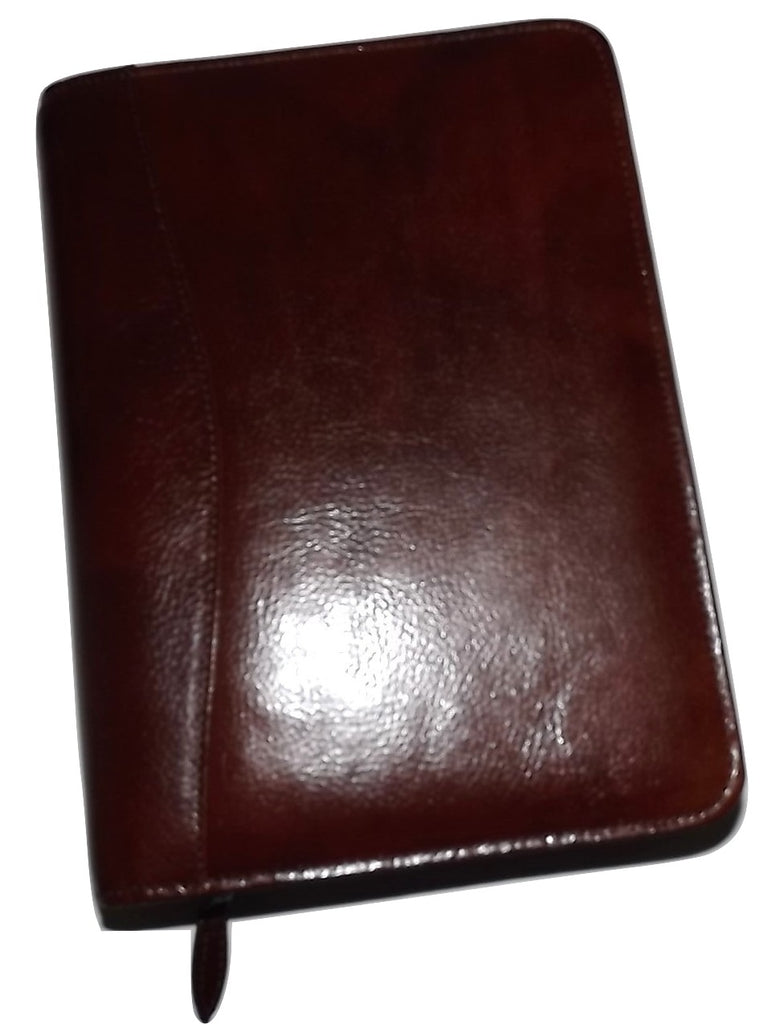 Scully Italian Leather 3 Ring Weekly/Monthly Agenda Mahogany