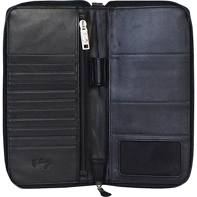 Scully Large Passport Wallet and Document Travel Wallet